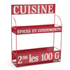 BROCANTE metal spice rack in red H 43cm