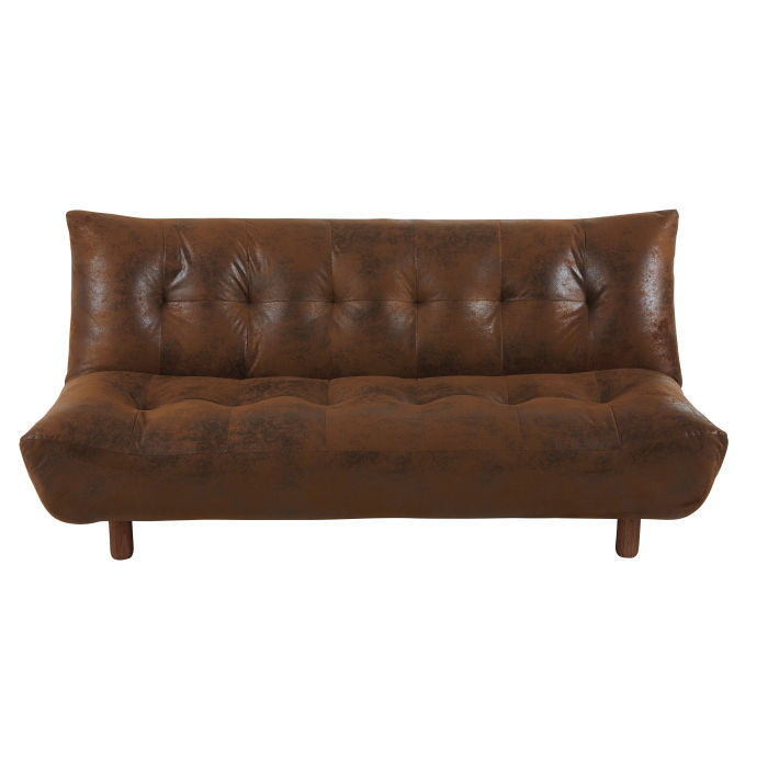 Microsuede Sofa Brown 3 Seater Microsuede Sofa Bed Maisons