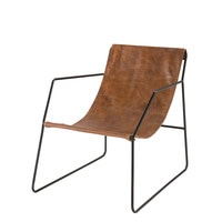 Brown Leather Armchair Daryl