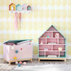 b cherregal haus f r kinder aus holz b 75 cm rosa. Black Bedroom Furniture Sets. Home Design Ideas