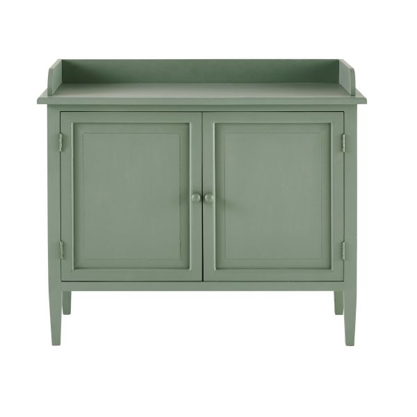 Buffet 2 portes en peuplier vert menthe Hortense (photo)