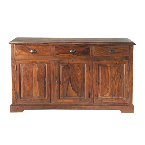 buffet en bois de sheesham massif teint l 150 cm luberon maisons du monde. Black Bedroom Furniture Sets. Home Design Ideas