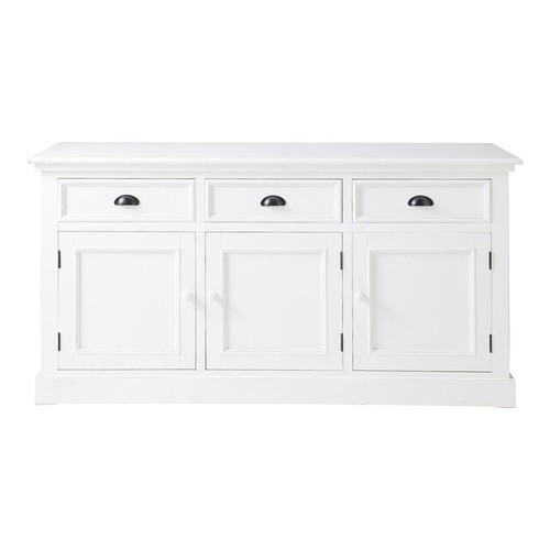 buffet en pin blanc l 156 cm newport maisons du monde. Black Bedroom Furniture Sets. Home Design Ideas