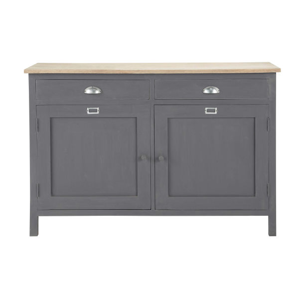 buffet gris achat vente de buffet pas cher. Black Bedroom Furniture Sets. Home Design Ideas