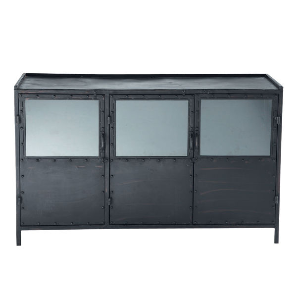 buffet m tal noir. Black Bedroom Furniture Sets. Home Design Ideas