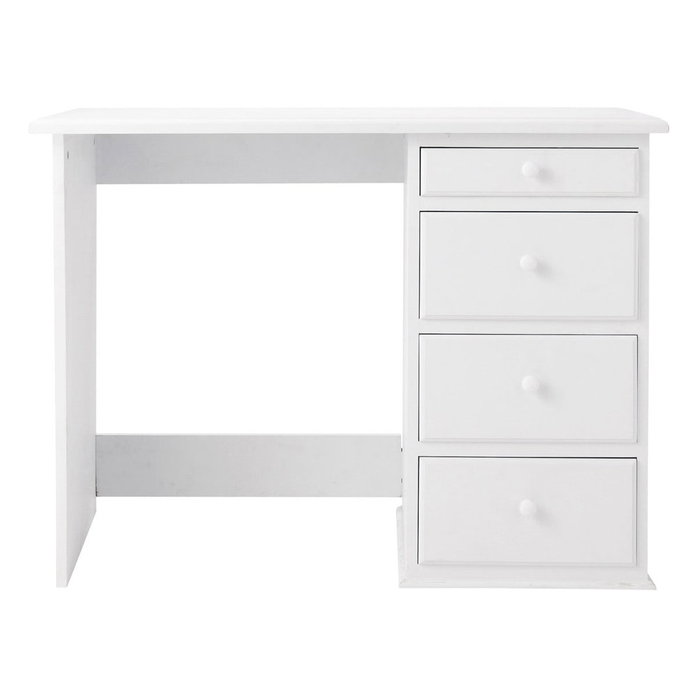Bureau 4 tiroirs blanc Pastel (photo)
