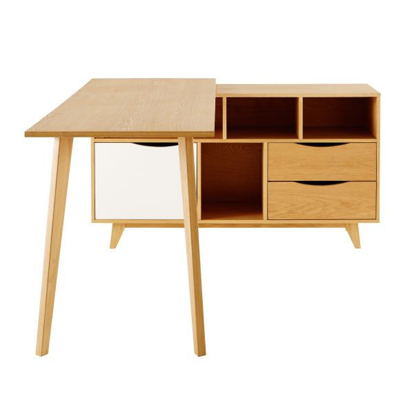 bureau d 39 angle 1 porte 2 tiroirs poppins vetusdiesel. Black Bedroom Furniture Sets. Home Design Ideas