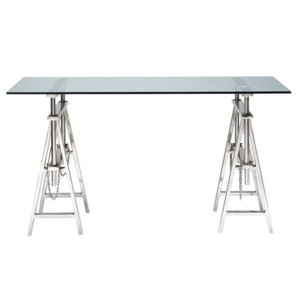 Table de bureau verre jusqu 38 d co maison for Meuble bureau 974