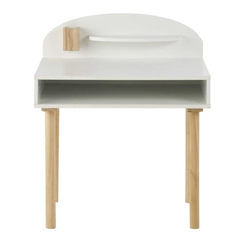 bureau enfant en bois blanc l 70 cm nuage maisons du monde. Black Bedroom Furniture Sets. Home Design Ideas