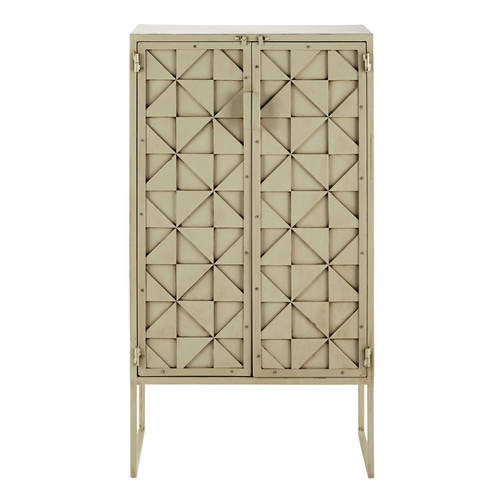 cabinet de rangement en m tal blanc l 66 cm kaleidoscope maisons du monde. Black Bedroom Furniture Sets. Home Design Ideas