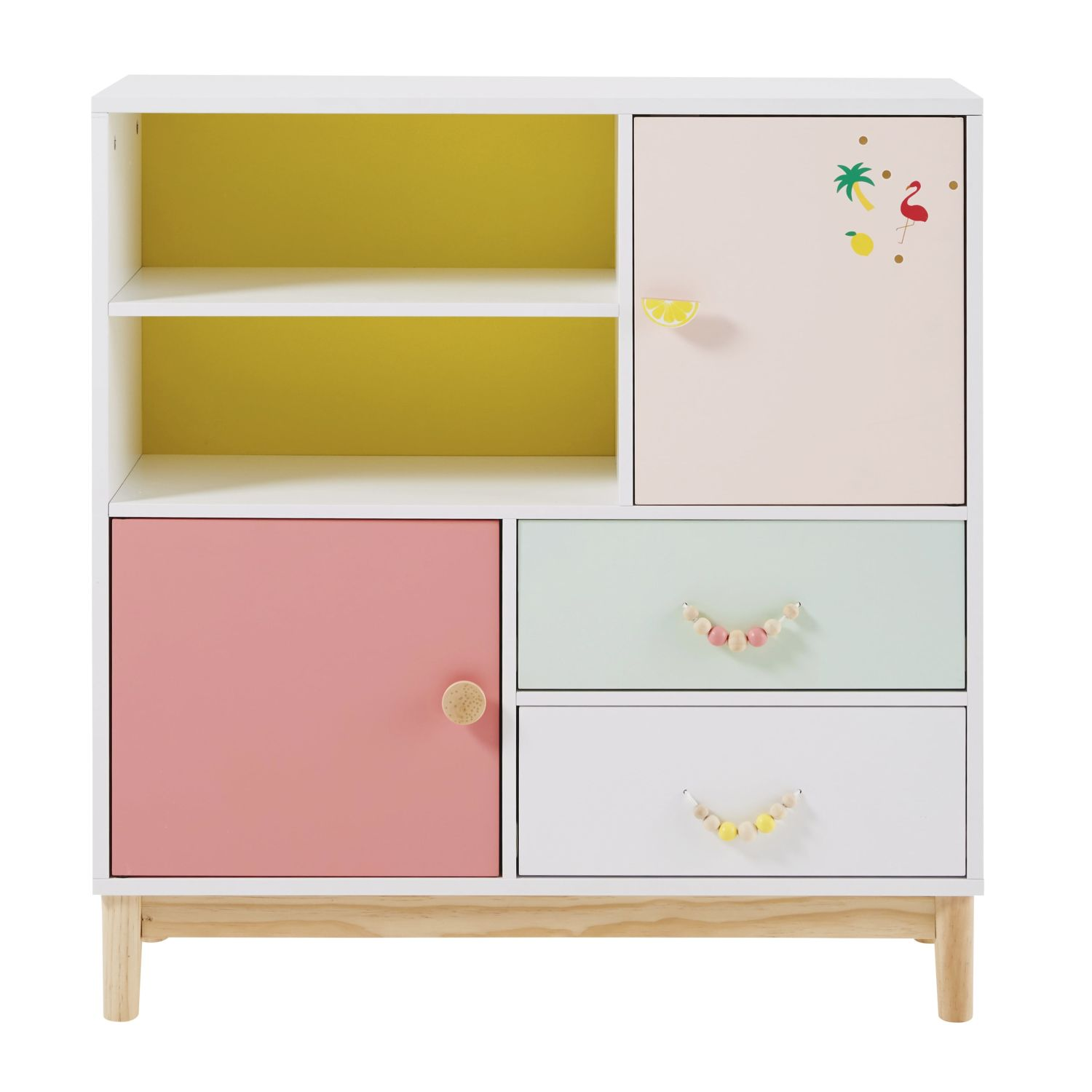 cabinet de rangement enfant 2 portes 2 tiroirs maisons. Black Bedroom Furniture Sets. Home Design Ideas