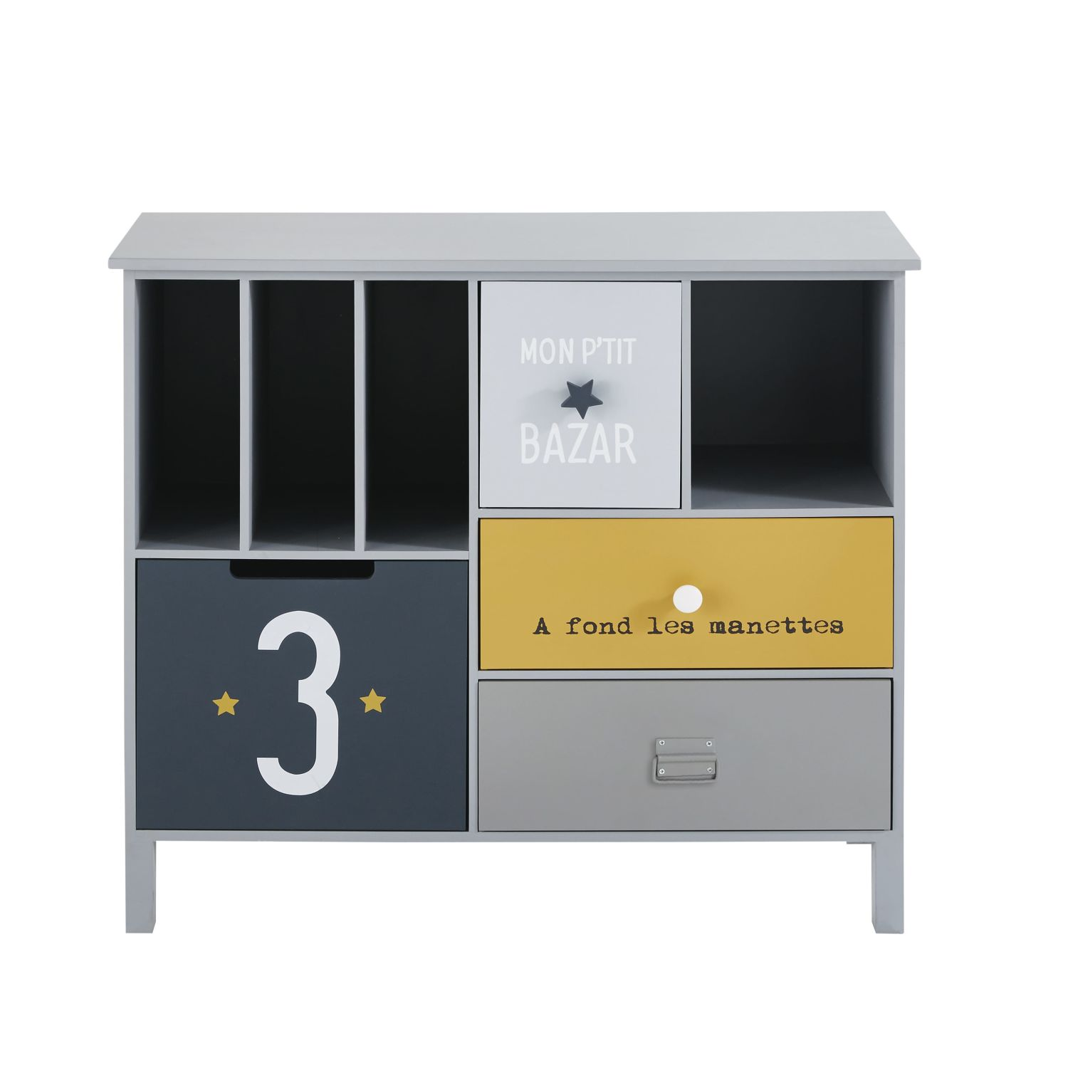 cabinet de rangement enfant 4 tiroirs maisons du monde. Black Bedroom Furniture Sets. Home Design Ideas