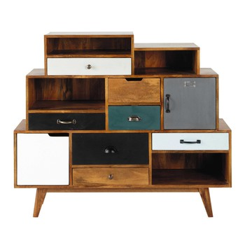 commode et cabinet commodes et cabinets en bois maisons du monde. Black Bedroom Furniture Sets. Home Design Ideas