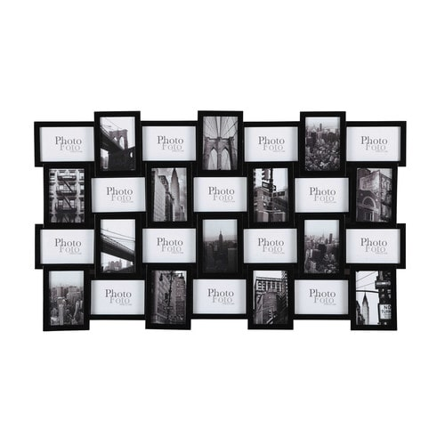 cadre photo en bois noir 59 x 100 cm decalage maisons du monde. Black Bedroom Furniture Sets. Home Design Ideas