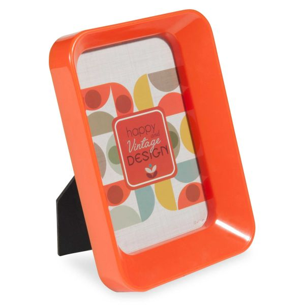 Cadre photo en plastique orange 9x14 cm JEANNETTE