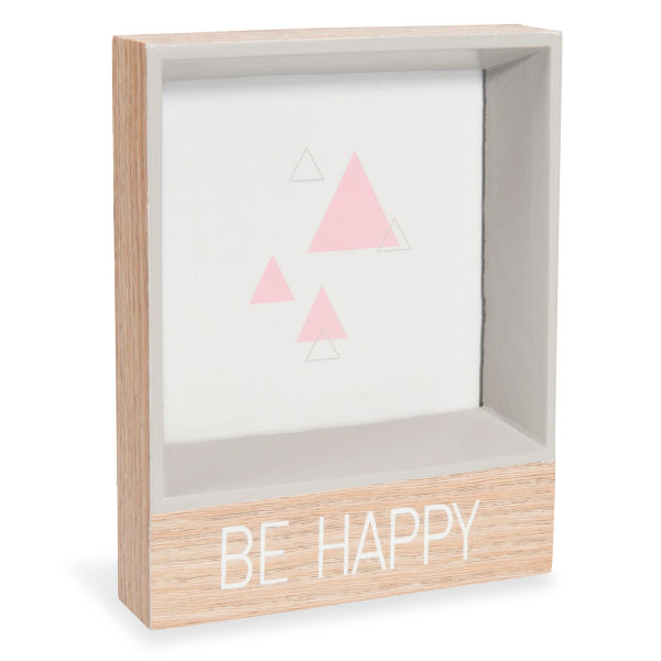 Cadre photo gris 12 x 15 cm BE HAPPY