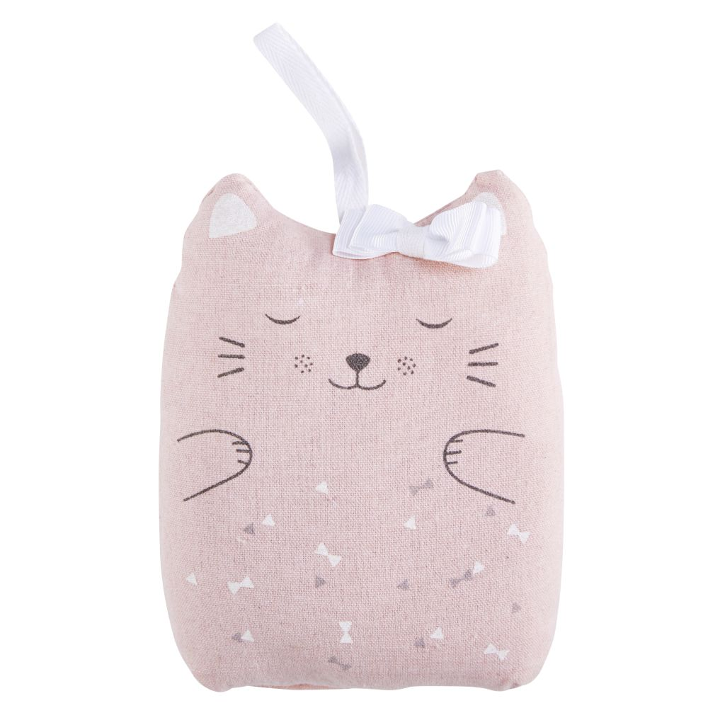 Cale porte chat en coton rose (photo)
