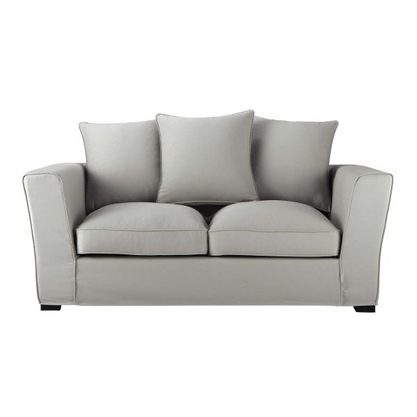 canap 3 places lenny pu blanc micro gris pas cher avis et prix en promo. Black Bedroom Furniture Sets. Home Design Ideas