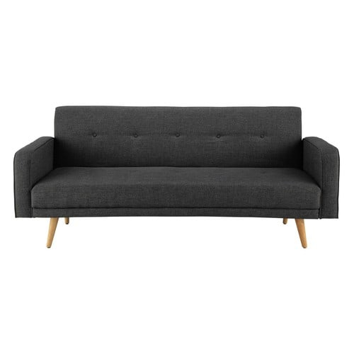 Canap clic clac convertible 3 places gris chin broadway - Canape convertible gris chine ...