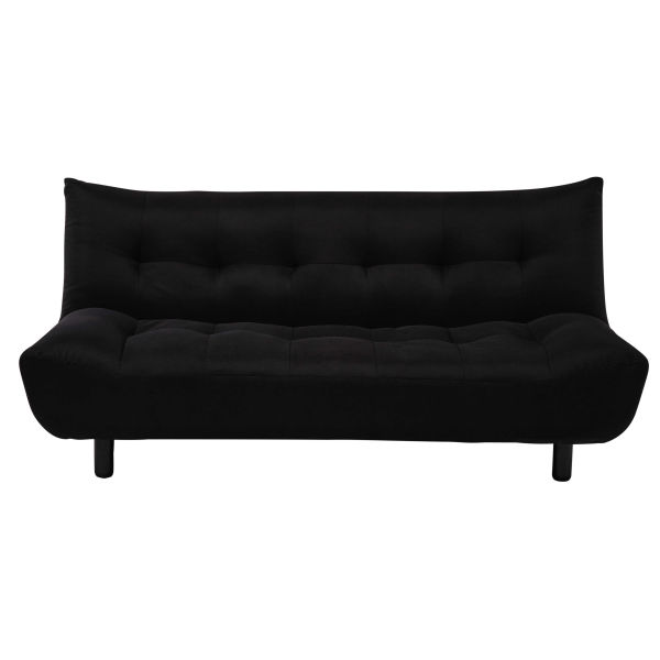 banquette clic clac en tissu couetta matelas dunlopillo. Black Bedroom Furniture Sets. Home Design Ideas