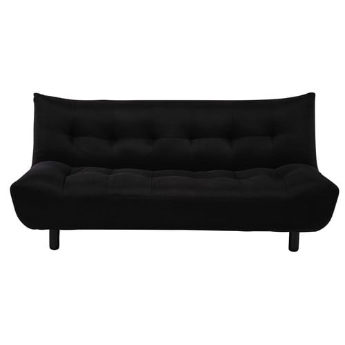 Canap clic clac convertible 3 places noir cloud maisons for Canape clic clac convertible