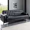 Canap clic clac convertible capitonn 3 places noir phoenix maisons du monde for Canape phoenix but