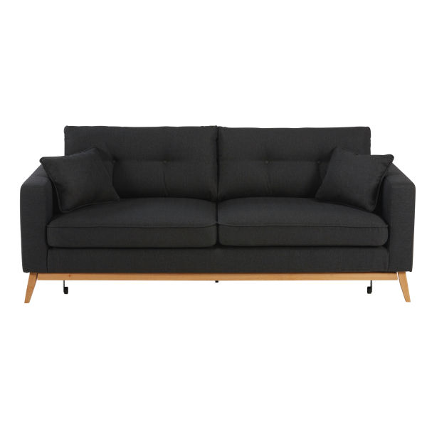 Canap convertible anthracite - Canape tissu convertible 3 places ...