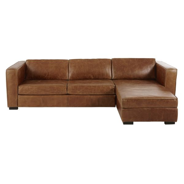 Canap convertible marron for Canape droit 4 5 places