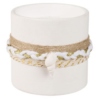 Candle in White Ceramic Holder