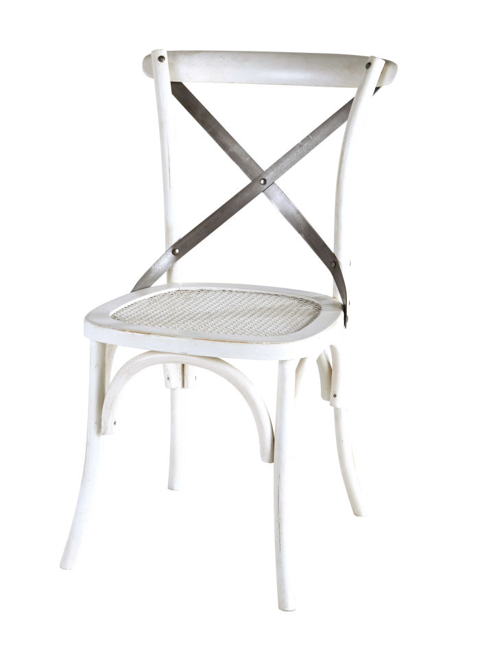 Chaise Bistrot Blanche Tradition