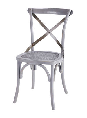 Chaise bistrot grise