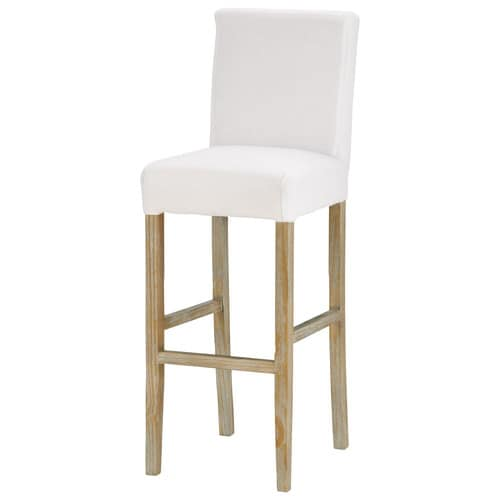 Chaise de bar housser avec pieds blanchis boston - Chaise de bar maison du monde ...