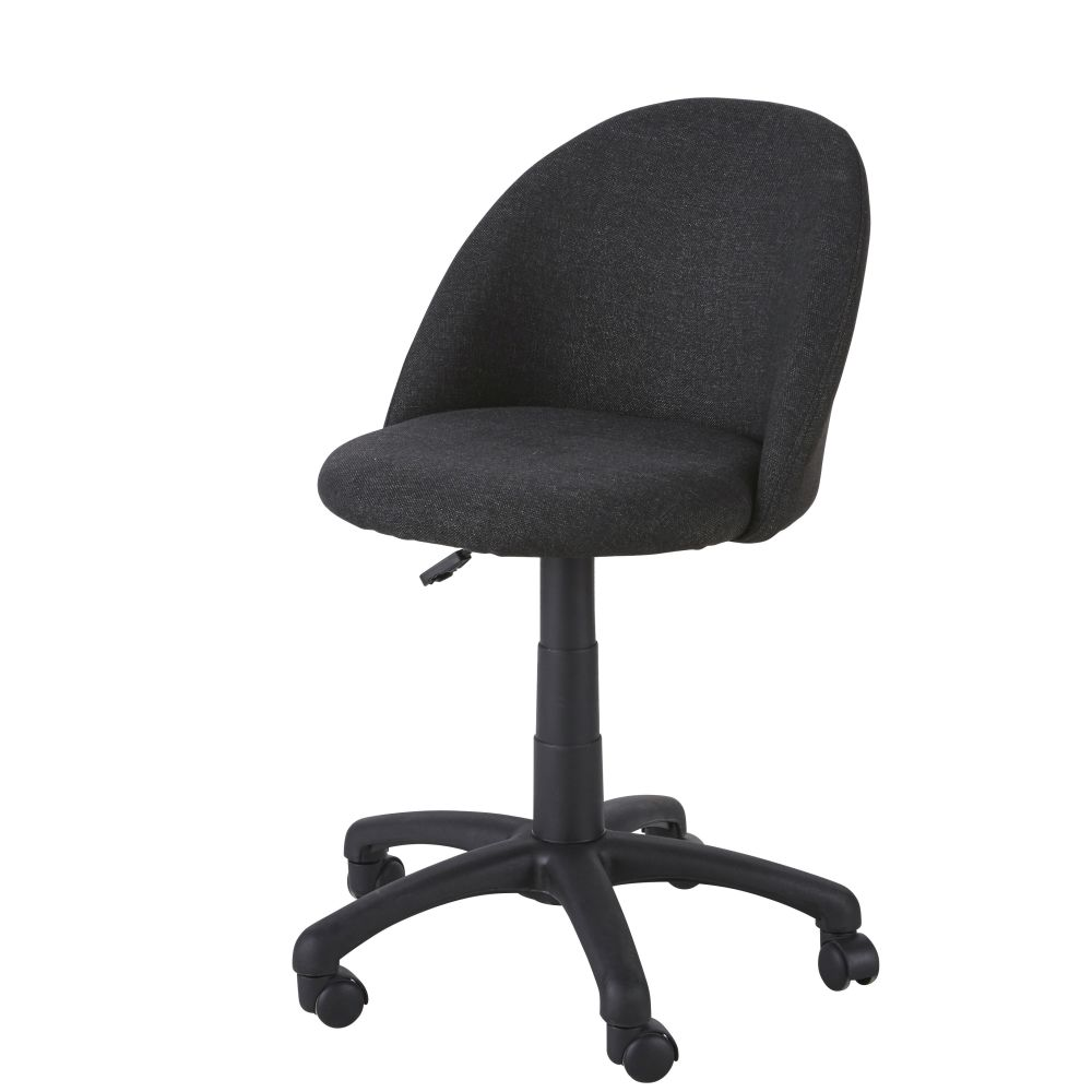 Chaise de bureau enfant à roulettes gris anthracite Mika (photo)
