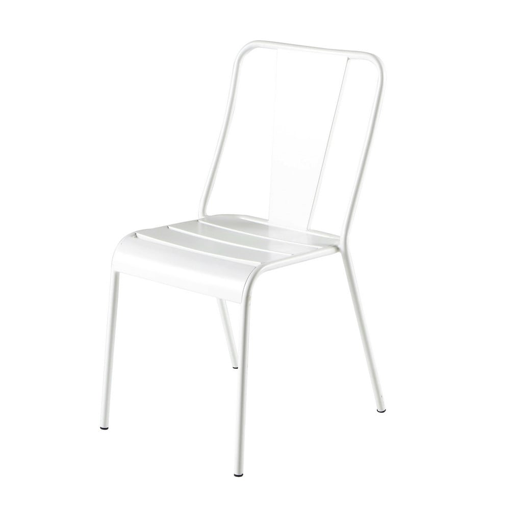 Chaise de jardin en métal blanche Harry's (photo)