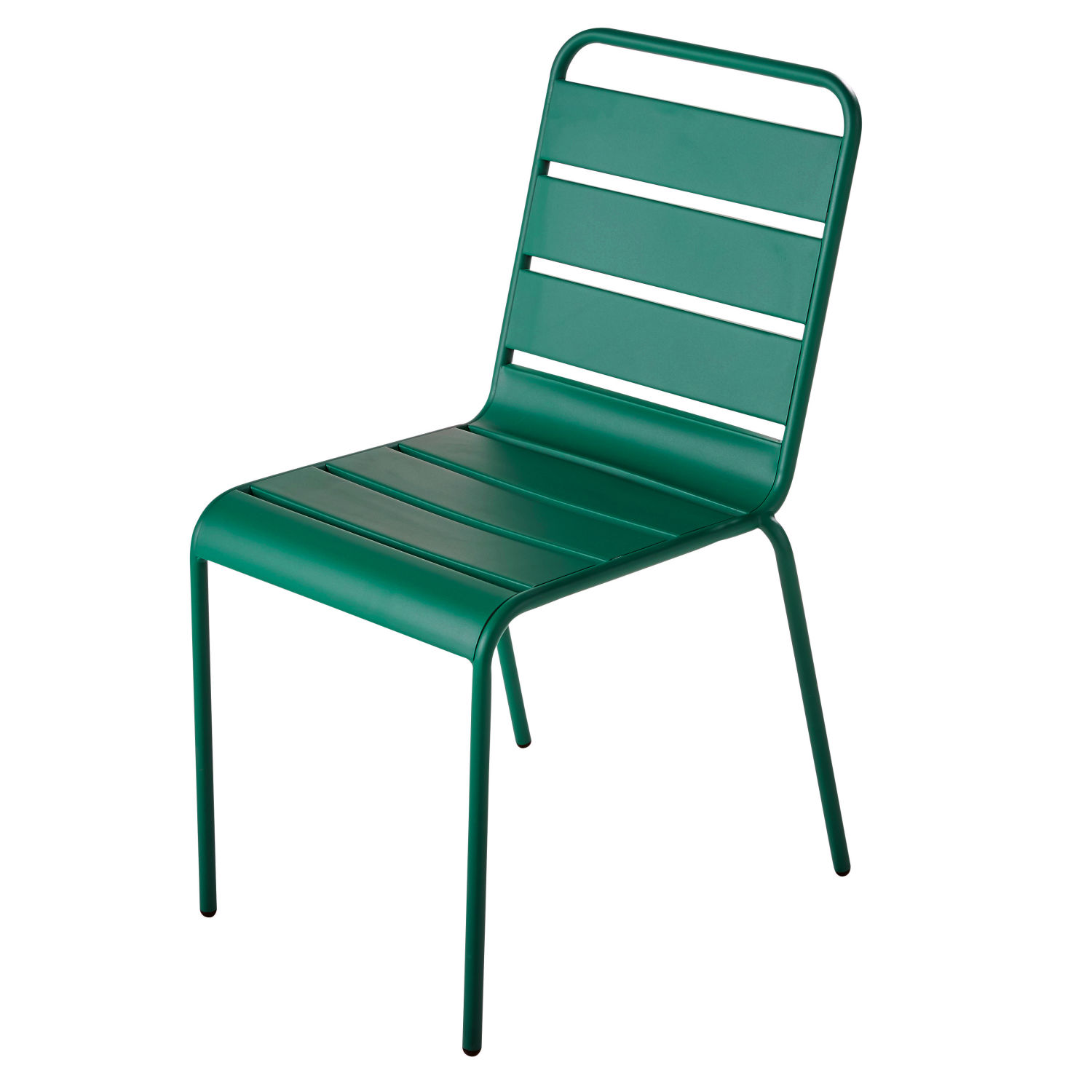 chaise de jardin en m tal vert maisons du monde. Black Bedroom Furniture Sets. Home Design Ideas