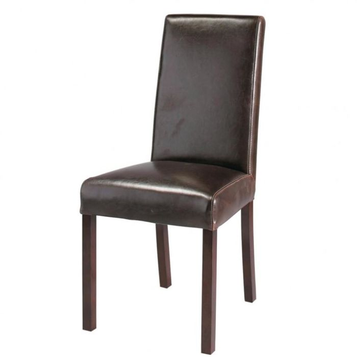Chaise En Cuir Marron Harvard