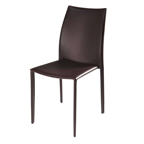 Chaise en synderme marron