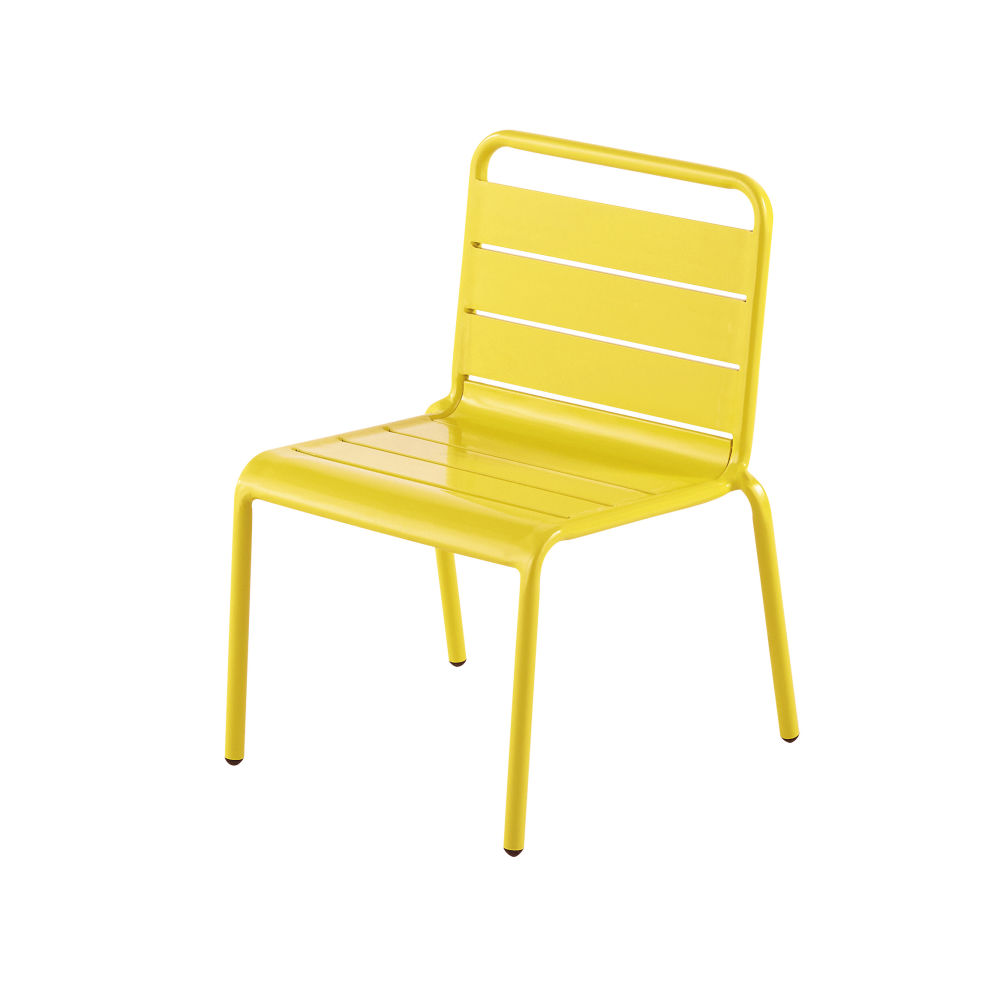 Chaise enfant en métal jaune Fun Summer (photo)