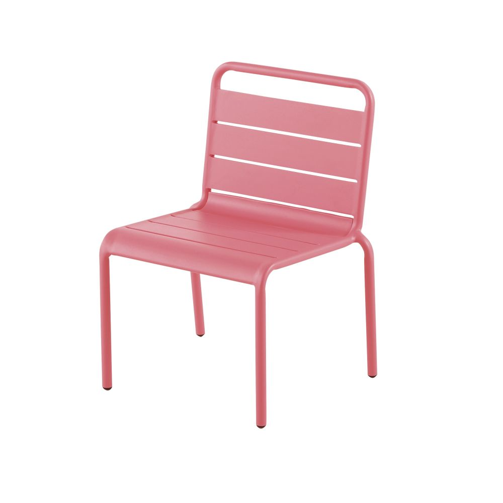 Chaise enfant en métal rose Fun Summer (photo)