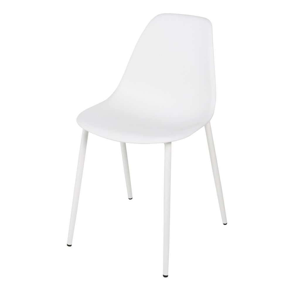 Chaise enfant style scandinave blanche Clyde (photo)
