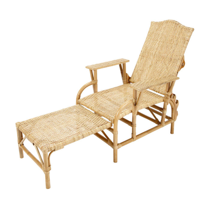 Chaise long perfect tokyo chaise longue with chaise long for Chaise en rotin