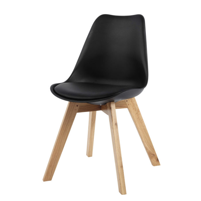 Chaise noir for Chaise scandinave fly