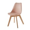 chaise scandinave rose poudr et ch ne massif maisons du monde. Black Bedroom Furniture Sets. Home Design Ideas