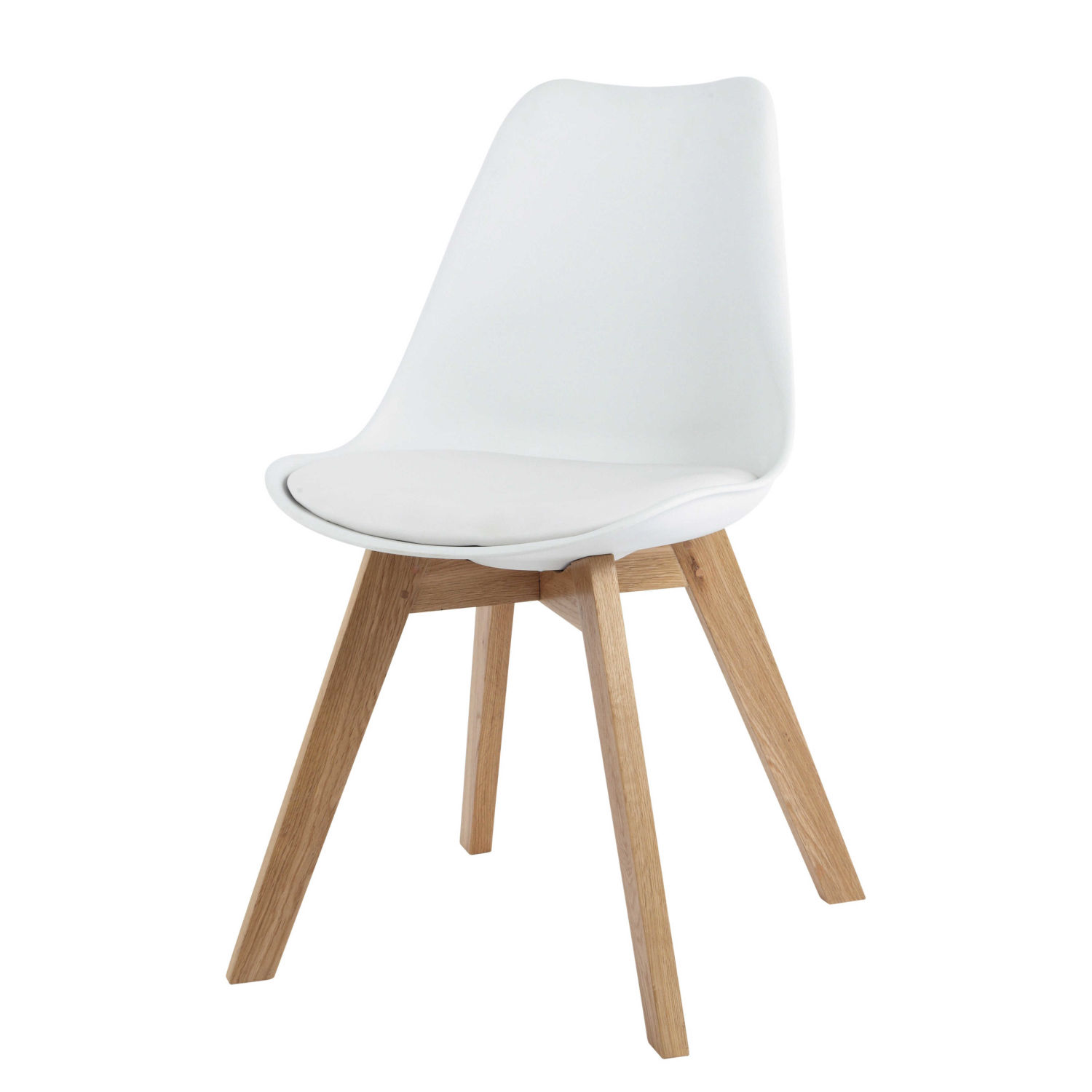 chaise style scandinave blanche et chne massif maisons du monde - Chaise Style Scandinave