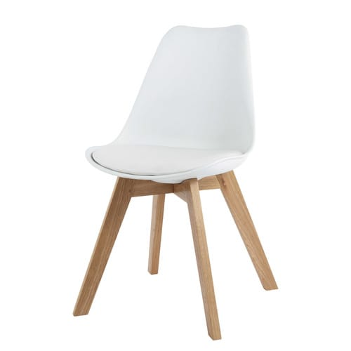 Chaise Style Scandinave Bleu Ptrole Et Chne Blanche Massif