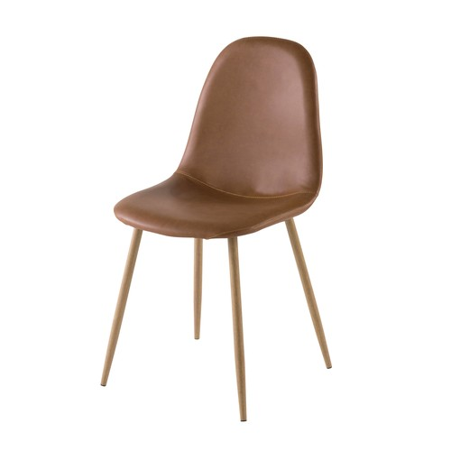 Chaise style scandinave camel
