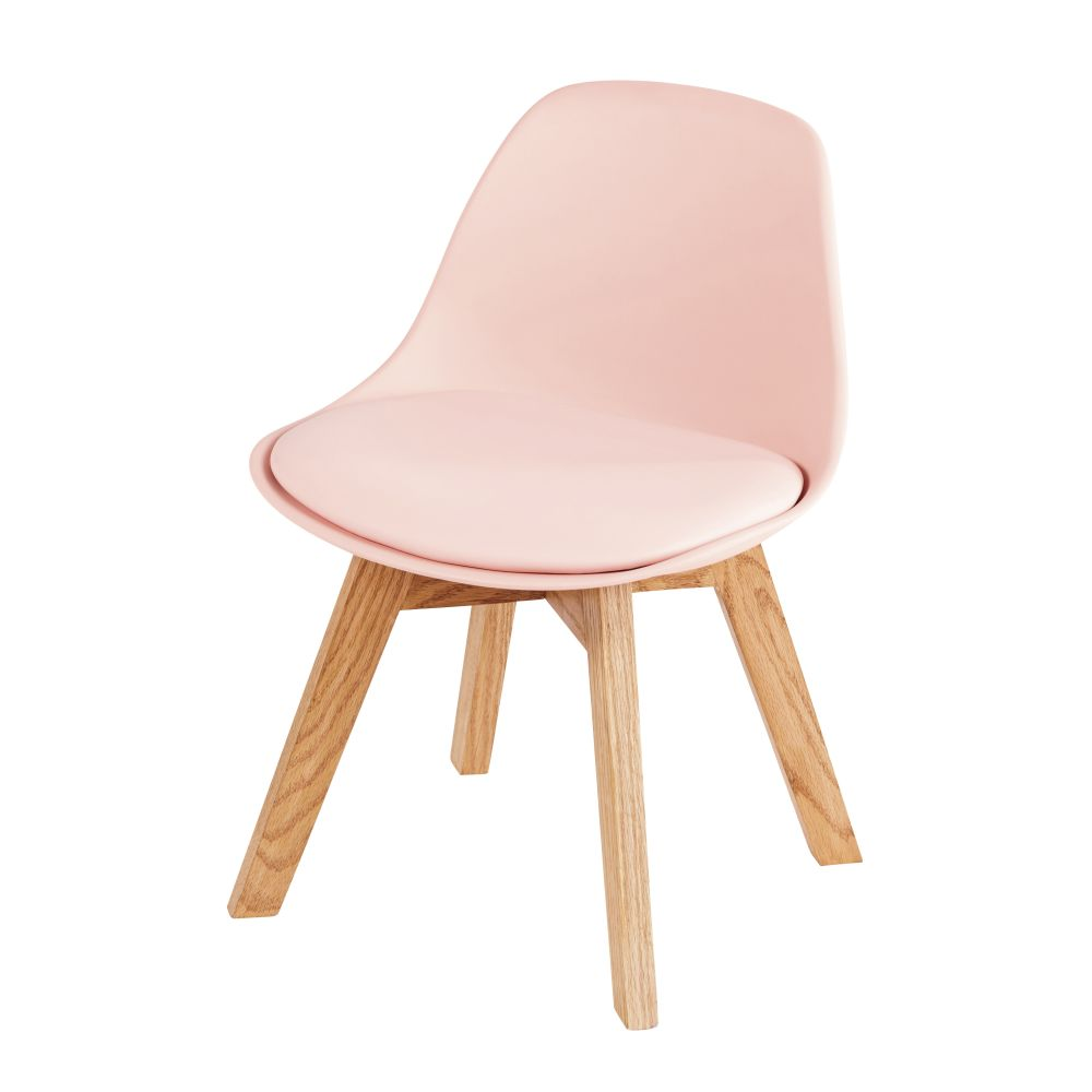 Chaise style scandinave enfant rose et chêne Ice (photo)