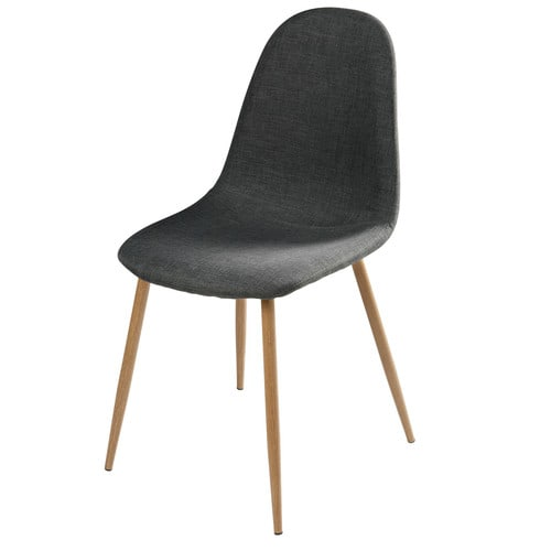 Chaise style scandinave gris anthracite