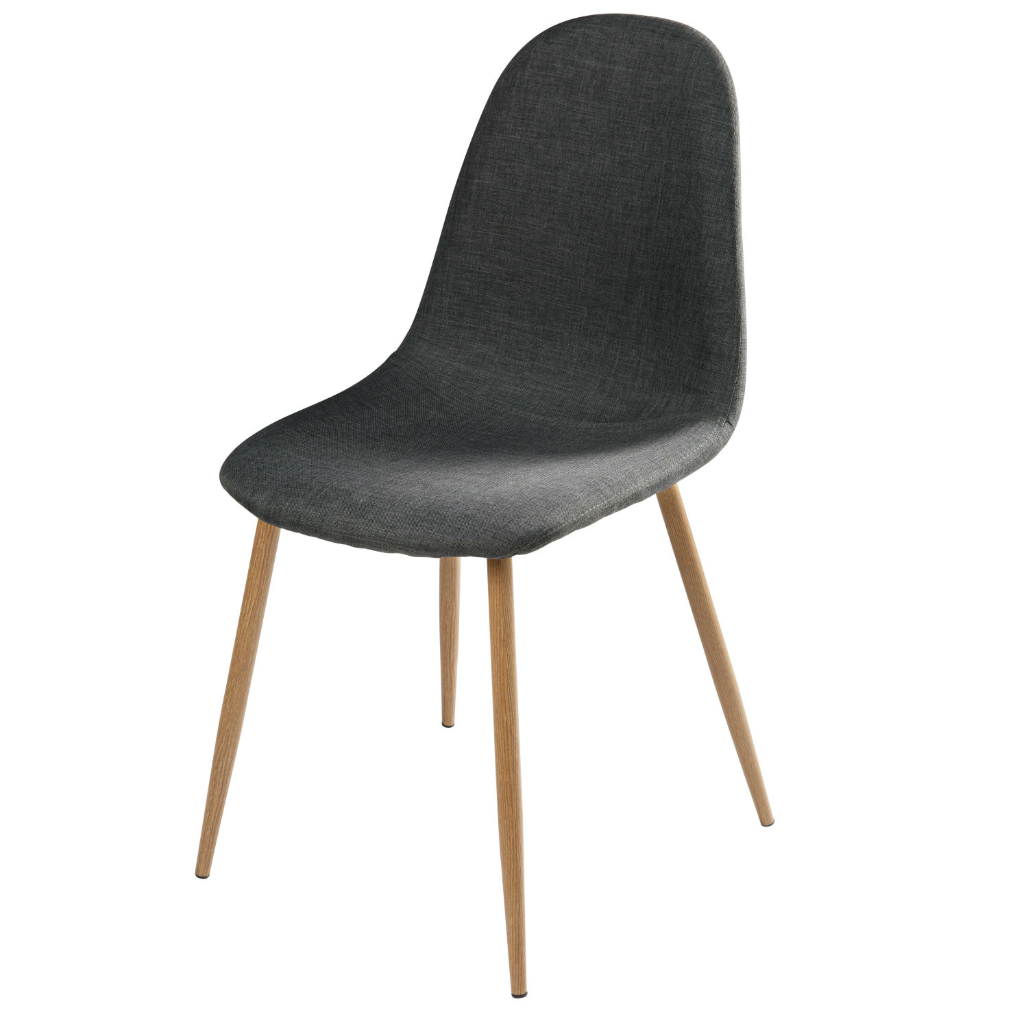 Chaise style scandinave gris anthracite et m tal maisons - Chaise gris anthracite ...