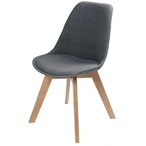 Chaise style scandinave gris chiné